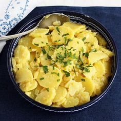 This is an old family recipe, passed down through generations. Austrian potato salad is lighter than American potato salad since it's made without mayo. Austrian Potato Salad, American Potato Salad, Austrian Recipes, Austrian Food, German Recipes, Potato Vegetable, Side Recipes, Food 52, Original Recipe