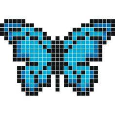13 images délicieuses de pixel art animaux | Bead patterns ... - Pixel Art Papillon