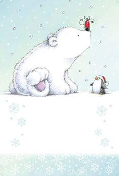 Cypress Fine Art Licensing - Chris Gaisey polar bear and penguin Pinguin Illustration, Illustration Mignonne, Illustration Noel, Christmas Illustration, Polar Bear Illustration, Winter Illustration, Christmas Drawing, Christmas Art, Winter Christmas