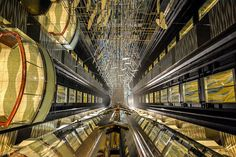 One of the amazing elevator lobbies on Royal Caribbean's Allure of the Seas.