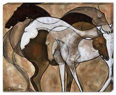 Shared Souls, Horse Art Canvas, Artist Erica Nordean, Horse Art, Prints on Canvas, Horse Artists