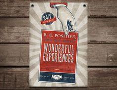 Retro art print / motivational wall art, positive art  / Mr. Positive / 11x16.via Etsy.