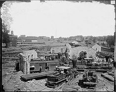 Ruins of Atlanta, Ga., 1864, ca. 1860 - ca. 1865  ARC Identifier 528865 / Local Identifier 111-B-4748   Item from Record Group 111: Records of the Office of the Chief Signal Officer, 1860 - 1982