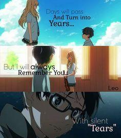 Your Lie in April / Shigatsu wa Kimi no Uso Sad Anime Quotes, Manga Quotes, Mood Quotes, True Quotes, April Quotes, Miyazono Kaori, Your Lie In April, Dark Quotes, Anime Life