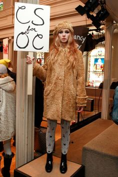 Chloe Sevigny x Opening Ceremony faux fur coat?! #WANT