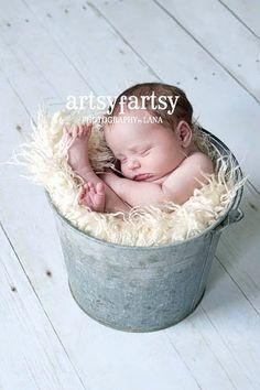 Newborns + buckets