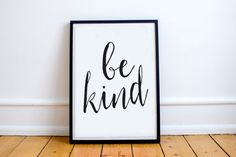 Sale 50% off Printable quote Be Kind printable typography, printable inspirational quote, motivational wall art decor, motivational print