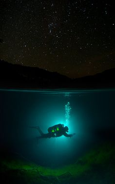 Diving under the stars