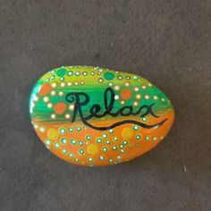 Just Relax! $15 + shipping and handling Painted Rocks For Sale, Hand Painted Rocks, Just Relax, Crafts, Manualidades, Handmade Crafts, Craft, Arts And Crafts, Artesanato