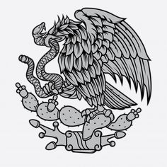 Mexican eagle and snake tattoo Premium V. Chicano Tattoos, Chicano Art, Mexican Flag Tattoos, Mexican Artwork, Mexican Flag Drawing, Eagle Drawing, Small Dragon Tattoos, Mexican Flags, Mexico Culture