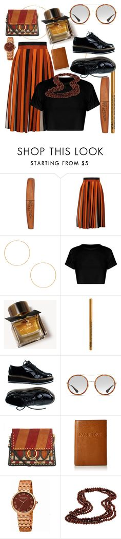 """Brownstones"" by sf9chanbin ❤ liked on Polyvore featuring Rimmel, Givenchy, 8 Other Reasons, Burberry, NYX, Gucci, Chloé, Lodis, Bruno Magli and DaVonna"