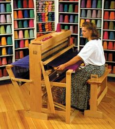 Harrisville 36 inch 4 shaft, 6 treadle Weaving Loom (assembled and finished) from Bountiful: Competitive Prices. Weaving Tools, Loom Weaving, Loom Knitting, Hand Knitting, Floor Space, Hand Spinning, Fiber Art, Lockers, Shopping