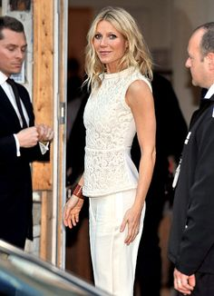 Gwyneth Paltrow attended Tuesday's Clinton Foundation Millennium Network at the Old Vic tunnels in London.