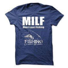 nice Men i love fishing T-shirts