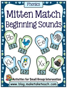 mitten games for math, rhyming words, and beginning sounds Rhyming Activities, Classroom Activities, Winter Activities, Classroom Ideas, Educational Activities, Therapy Activities, Therapy Ideas, Learning Activities, Kids Learning