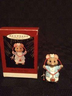 Hallmark Keepsake Tender Loving Care Music Mouse Nurse Christmas Tree Ornament
