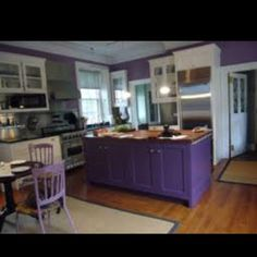 Another well done purple kitchen
