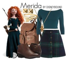 """""""Merida"""" by leslieakay ❤ liked on Polyvore featuring Bling Jewelry, Merida, H&M, Blondo, Mirabelle, Waterford, disney and disneybound"""