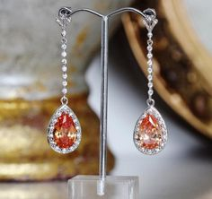 Fall Wedding Earrings, Champagne Earrings, Long #longdropearrings #teardropearrings #orangeearrings #autumnwedding #formaljewellery #motherofthebride #champagneearrings #promearrings #fallweddingearring #longdangleearrings #bridalearrings #fallbridalshower #longbridalearrings