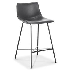Set of 2 Phillip Counter Stool Gray - Poly & Bark, Adult Unisex Metal Counter Stools, 30 Bar Stools, Find Furniture, Dining Furniture, Adjustable Bar Stools, Modern Restaurant, Bars For Home, Kitchen Ideas