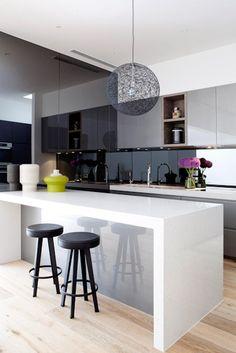 smoked mirrored kitchen backsplash - Google Search