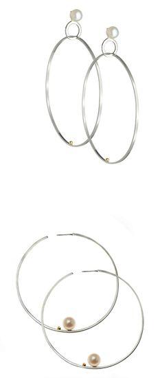 Lauren Chisholm.  statement hoop earrings