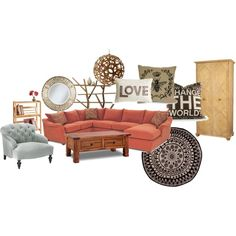 Rustic meets eclectic - my dream living room! Love the lounge Eclectic Living Room, Living Rooms, Living Spaces, Dream Homes, My Dream Home, Dream Apartment, Homestead, Outdoor Furniture Sets, Family Room
