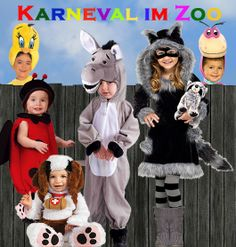 Kinderkarneval im Zoo. Süße Kostüme für die Kleinen.