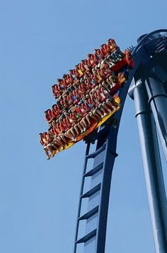 """""""It's like a leisurely drive around downtown.  But it starts with a 3 mile drop straight down."""" - Phineas Flynn  This is the Griffon in Busch Gardens Williamsburg, VA.  Cool Roller Coasters – Amazing Places"""