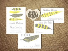 Diy PRINTABLE FINE FEATHER Wedding by TheScarletSageTree on Etsy