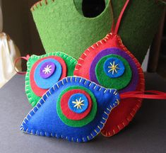 Merry and Bright Mod Baubles - felt ornaments | Flickr - Photo Sharing!