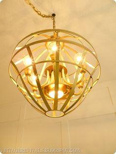 DIY chandelier by violet