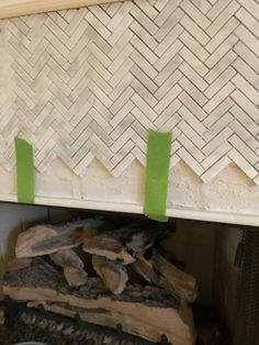 How to Add Herringbone Marble Tile to a Fireplace - Southern Hospitality Tile Around Fireplace, Fireplace Surrounds, Cutting Edge Stencils, Fireplaces Uk, Country Girl Quotes, Southern Quotes, Southern Belle Secrets, Fireplace Remodel, Fireplace Ideas
