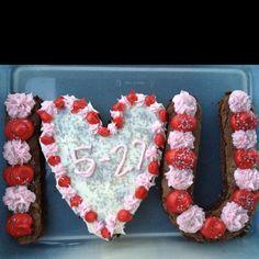 Valentine's day cookie cake for boyfriend
