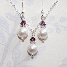 BRIDESMAIDS --> Set of 5 Bridesmaid Necklace and Earring Set  by alexandreasjewels, $70.00