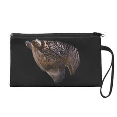 American Brown Grizzly Bear Animal Nature Wildlife Wristlet Purse - cyo customize create your own #personalize diy
