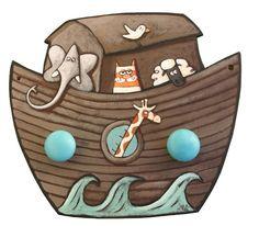 Porte-manteau Arche de Noé : Chambre d'enfant, de bébé par la-sardine-a-plumes