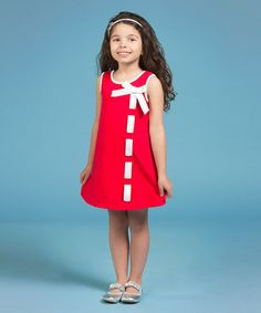 Look what I found on #zulily! Red Ribbons Undone Dress - Girls by Gidget Loves Milo #zulilyfinds