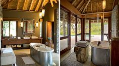 Luxury Suite's Bathroom at Leadwood Lodge, Sabi Sand Private Game Reserve, South Africa