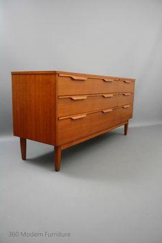 MID Century Modern Reliance Lowline Teak Sideboard Drawers Dresser Retro Vintage Parker Danish era in Narre Warren, 360 Modern Furniture VIC | eBay