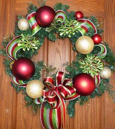 Traditional Christmas Wreath. $75,00, via Etsy.