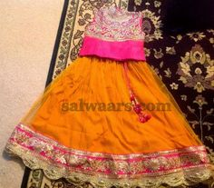 Mustard Lace Skirt with Blouse | Indian Dresses