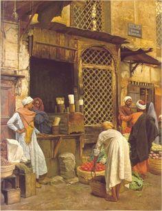 """Ludwig Deutsch Austrian 1855 - 1935 """"Sharia El-Sanadkyeh"""