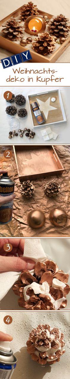 Gefällt Dir Deine Weihnachtsdeko aus dem letzten Jahr nicht mehr so ganz oder passt sie nicht mehr zum restlichen Deko-Farbkonzept? Statt eine komplett neue Dekoration zu kaufen, hilft es manchmal schon, die Objekte mit einer neuen Lacksprayfarbe umzulackieren und so aufzuwerten. Neben dem von uns benutzten belton special Kupfer-Effekt haben wir noch viele andere Effektlacke im Sortiment, die sich hervorragend für eine moderne Weihnachtsdekoration eignen. Erhältlich in führenden Baumärkten.
