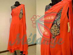 Stylish orange kameez (shirt)