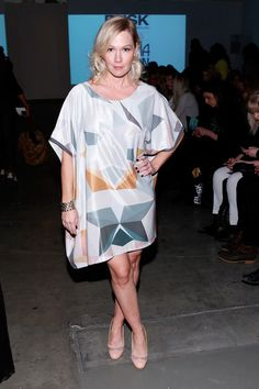 Jennie Garth Photos - Actress Jennie Garth attends the Katty Xiomara show during Nolcha Fashion Week New York Fall/Winter 2014 presented by RUSK at Pier 59 on February 2014 in New York City. - Backstage at the Katty Xiomara Show Jennie Garth, Beverly Hills 90210, Dog Show, Backstage, Cover Up, Shirt Dress, Female, Clothes, Dresses