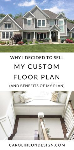 Caroline on Design& number reason she sells her custom two-story floor plan with main level master. Two Story House Plans, 2 Story Houses, Two Story Homes, House Floor Plans, Custom Floor Plans, Custom Home Plans, Custom Homes, Home Building Tips, Building A House