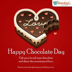 The third day of Valentine week is here – Chocolate Day.  Chocolates will quickly make you fall in love easily and also enhance charm.  Gharkart offers special deals on chocolates shop with us and share the joy. Follow the link : http://www.gharkart.com/special-stores/gift-packs.html ‪#‎Gharkart‬ ‪#‎Onlineshopping‬ ‪#‎Groceries‬ ‪#‎homeneeds‬ ‪#‎valentinesday‬ ‪#‎hyderabad‬ ‪#‎chocolates‬ ‪#‎onlinegrocery‬ ‪#‎hyperstore‬ ‪#‎hypermarket‬