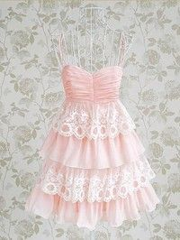 Adorable Pink and Lace Dress Custom Made