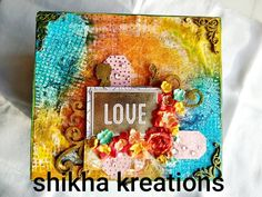 """Shikha kreations shared a post on Instagram: """"This beautiful mixed media box was done for a friend as her wedding gift after all who doesn't want…"""" • Follow their account to see 418 posts. Wedding Gifts, Mixed Media, Posts, Box, Frame, Beautiful, Instagram, Home Decor, Wedding Day Gifts"""